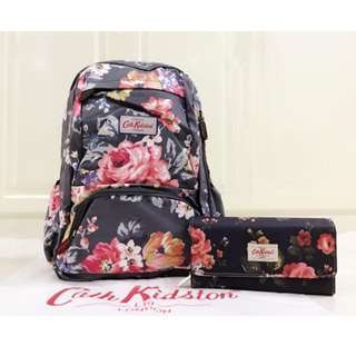 Cate Kidston Bacpack with Long Wallet