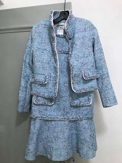 Chanel style tweed set:  jacket and dress