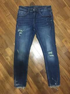 Zara Man Distressed Skinny Jeans Size 31us