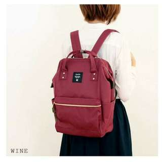 ✳ Wine Authentic Anello Canvas Backpack