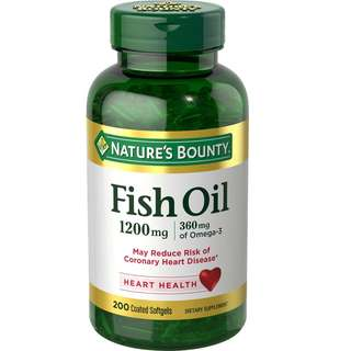 🚚 「家人有吃才代購」NATURE'S BOUNTY Fish Oil 魚油 1200mg 200顆  DHA EPA