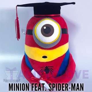 Minion feat. Spider-Man Graduation Plush Gift Set