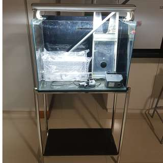 2ft aquarium with stainless steel stand
