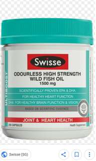 4x Swiss fish oil (ori $158)