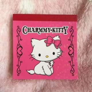 日本製 限定 Sanrio Charmmy Kitty  2008 memo 紙
