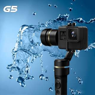 HOT SELLER - Feiyu G5 (New improved version) 3-Axis Splash Proof Electronic Handheld Gimbal Stabilizer for GoPro HERO 6, 5, 4, 3+ or similar size action camera