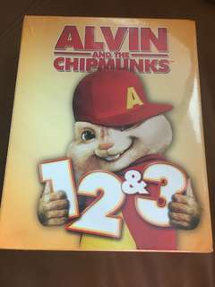 Alvin and the chipmunks 1, 2 and 3, blu-ray