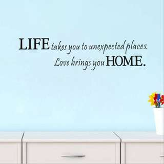Life Home Vinyl Removable HOME Quote Saying Wall Sticker Decor Decals