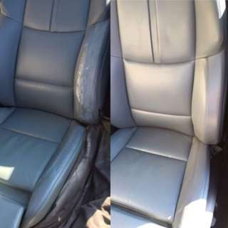 CAR SEAT LEATHER REPAIR AND UPHOLSTERY  STARTING