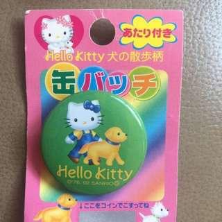 日本製 Hello Kitty 犬の散步 襟章 狗 (包郵)