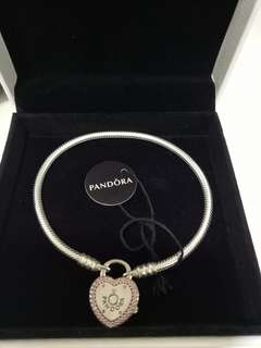 Authentic Pandora Lock Your Promise Bracelwt