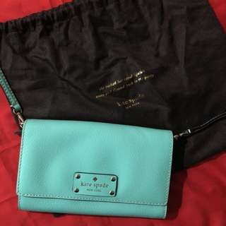 Kate Spade 湖水綠色 Wallet on chain