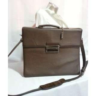 Authentic CALVIN KLEIN Portfolio Brown Leather Bag