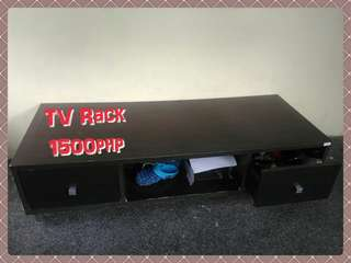 Large Tv Rack with 3 storage in wenge color