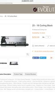 Curling wand curling iron