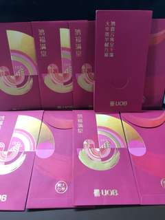 UOB Year of Cock A Pack if 8 Red Packets with Folder
