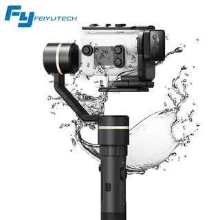BRAND NEW Feiyu G5GS 3-Axis Splash Proof Electronic Handheld Gimbal Stabilizer for Sony AS50 / AS300 / X1000V / X3000 or similar size action camera *Free Mini Tripod*