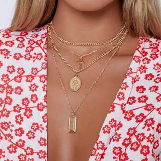 Influencer Style Gold Necklaces