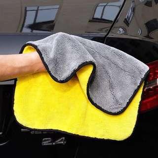 雙面超細纖維吸水車用毛巾 汽車 機車 吸水性強
