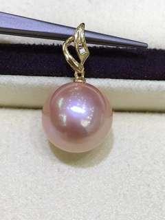 38女神節超高性價比只要💰1xxx,欲購從速。 18K金鑽石💎12一13mm愛迪生金粉色吊墜。