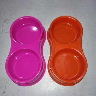 Double plastic bowl big