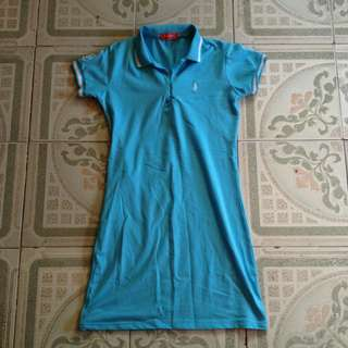 Light blue polo dress