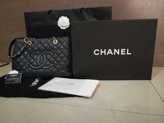 Raya Sales! Chanel Black Caviar Grand Shopping Tote GST