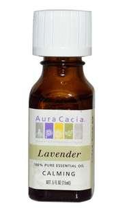 Aura Cacia, 100% Pure Essential Oil, Lavender, .5 fl oz (15 ml)
