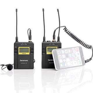 Saramonic UWMIC9 RX9 + TX9, 96-Channel Digital UHF Wireless Lavalier Mic System