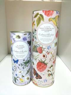 CRABTREE & EVELYN BISCUITS EMPTY TINS!!! 2 TINS FOR $8!! CLEAN HOUSE,  NO SMOKING,  NO PETS!! CAN BE USE TO STORE ITEMS OR FOR FLOWERS!! BEAUITFUL FLORAL TINS!!  ONLY 2!! HURRY!!