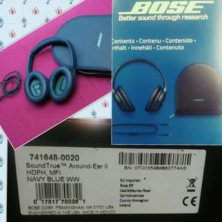 BOSE Soundtrue Around-ear Headphones 2nd Edition