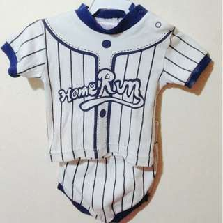 Home Run Baseball outfit for baby boys (Black)