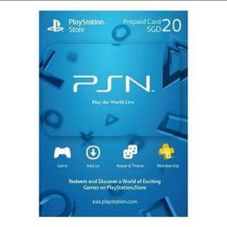 Psn 20 SGD Digital