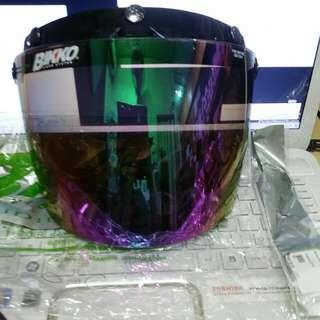 Bikko Visor System Iridium Rainbow Purple (Helmet Cap) Topi Motosikal Motorcycle
