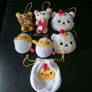 Rilakuma Bear,  Chicken Plushy And Cute Baby Chicken Pouches And Plushys