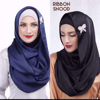 Instocks! RIBBON satin Snood