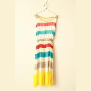 Dress warna warni / dress pesta /