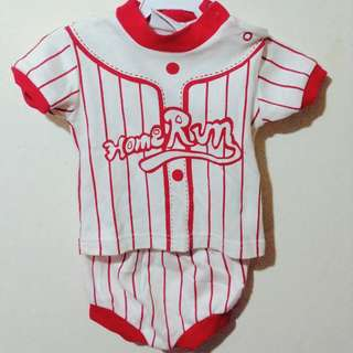Home Run Baseball outfit for baby boys (Red)