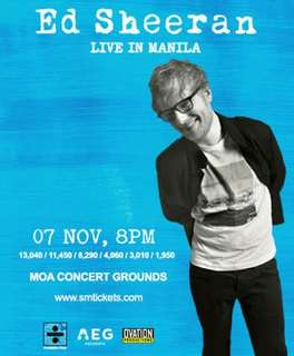 Ed Sheeran Concert Ticket GA-Gold!!!