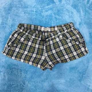 Checked Short Pants
