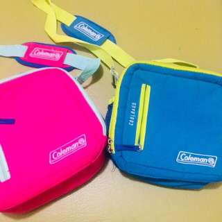 Coleman Pink and Blue Lunch Bag