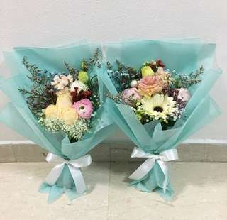 Flash Sale / Roses Bouquet with Baby Breath and Mix Fillers