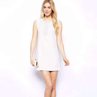 White Beaded Cocktail Dress