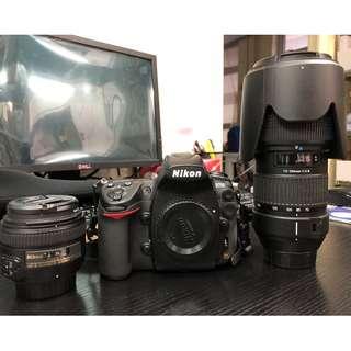 Nikon D700 + 50mm 1.4G + Tamron 70-200 2.8 (A001) +MBD10