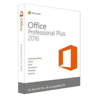 正版永久 買斷版 Microsoft Office 2016 Professional Plus 數位版