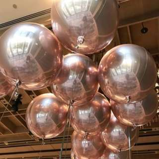 Helium Balloons - Orbz 16″/41cm Sphere Rose Gold Shaped Balloon
