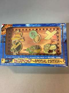 BNIB! BanPresto Official 2002 One Piece Special Edition Character Names Pin Badges