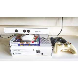 Xbox 360 + Kinect + 2 controllers (Pearl White)