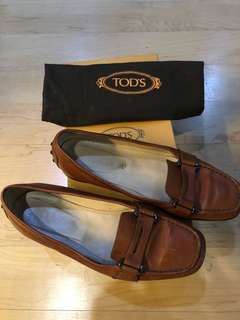 Tod's Tack Leather Loafers