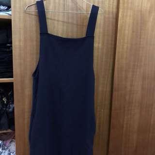 🚚 深藍針織吊帶裙(正韓)